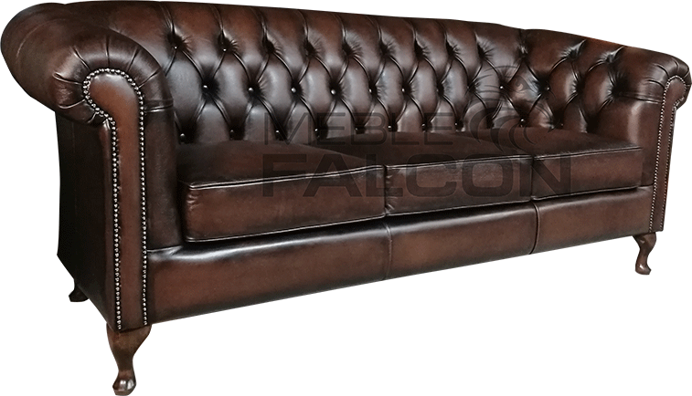 sofa chesterfield skórzana do gabinetu salonu domu