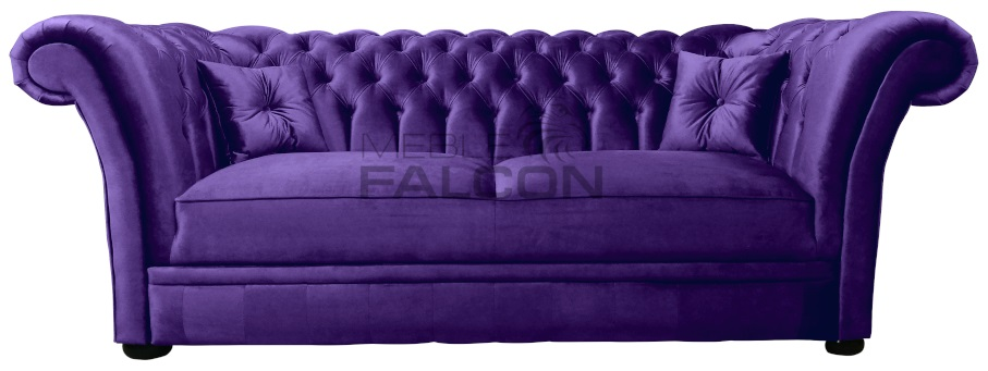 sofa chesterfield fioletowa do salonu producent