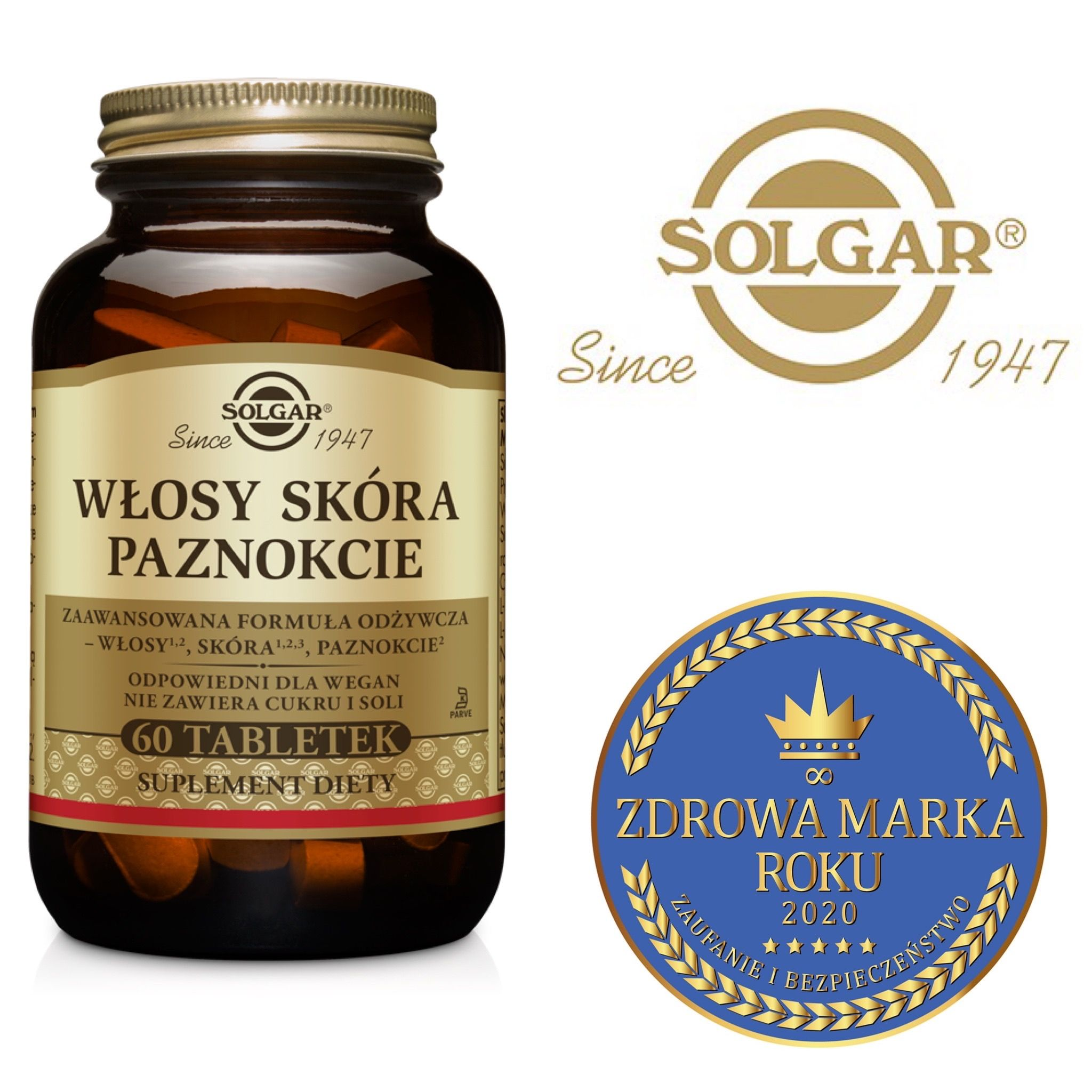 Suplementy diety prosto z natury w butelce ze zotym kapslem Solgar