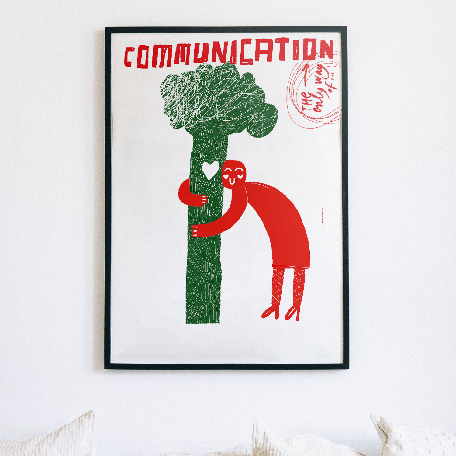 "Plakat: ""The only way of communication"""
