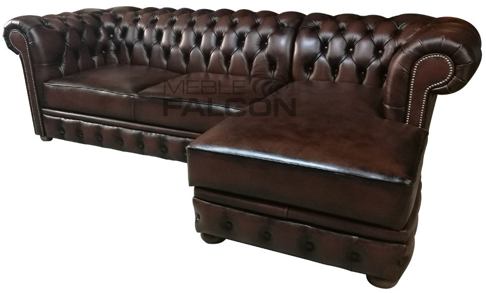 narożnik chesterfield pikowany do salonu producent