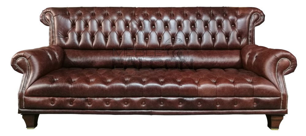 sofa chesterfield master skóra naturalna producent