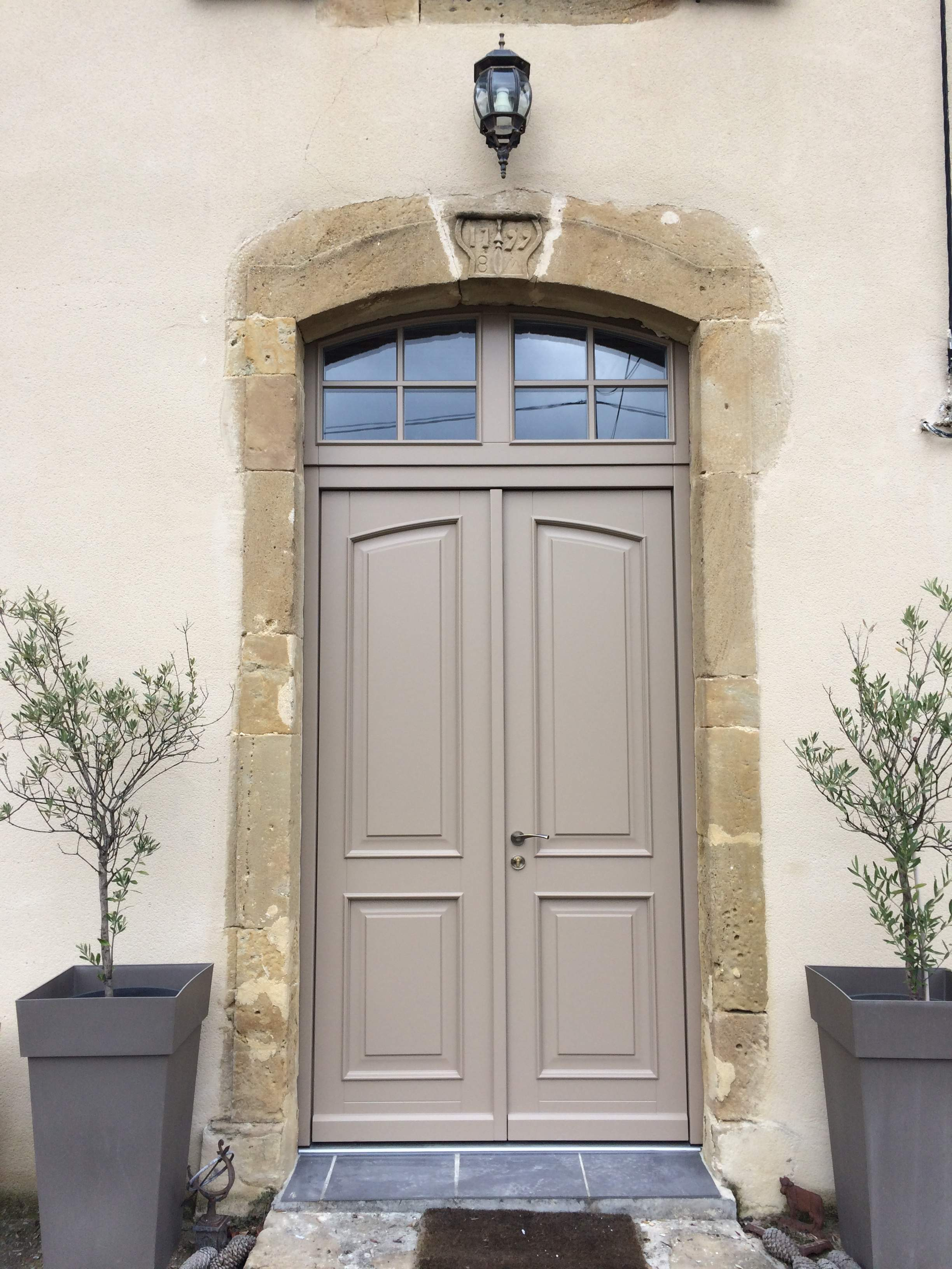 Solid machogany front doors southern France