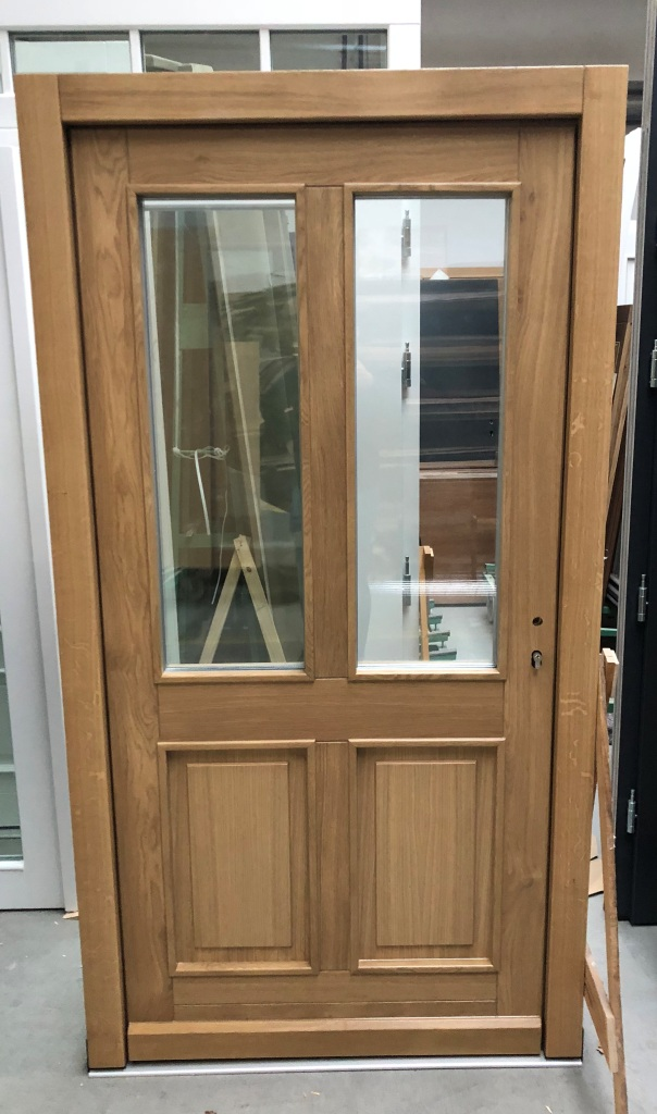 Triple glazed oak door