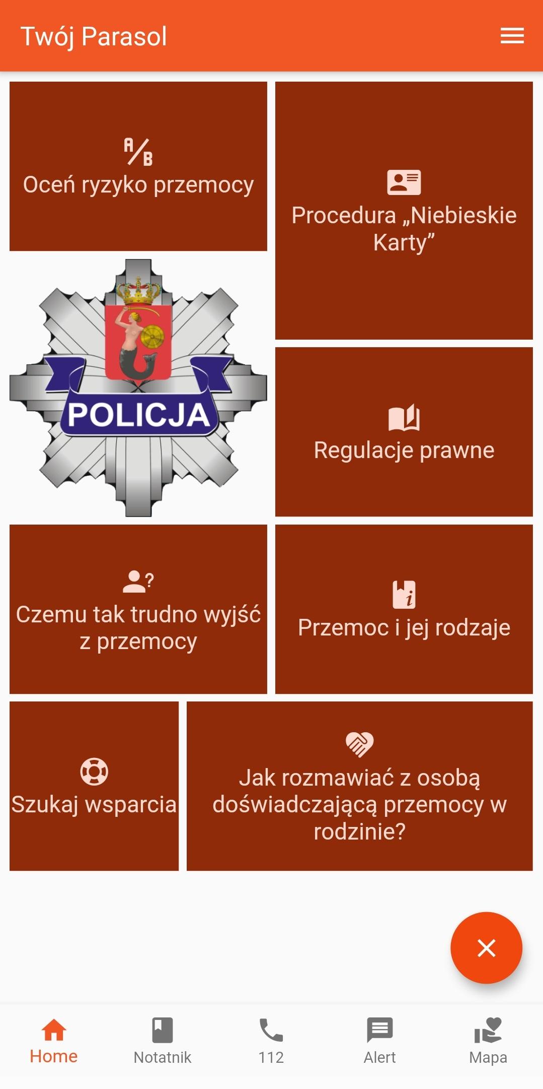 """Przemoc domowa - Aplikacja """"Twój parasol"""""""