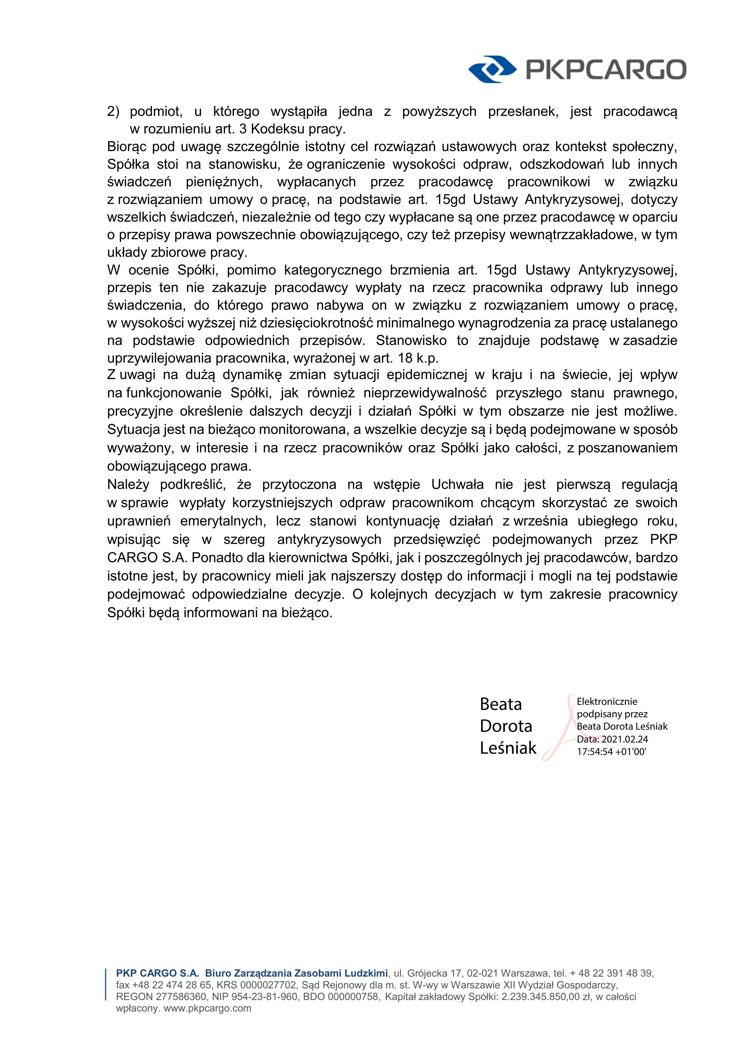 CARGO odprawy odpowied leniak 2021_02jpg