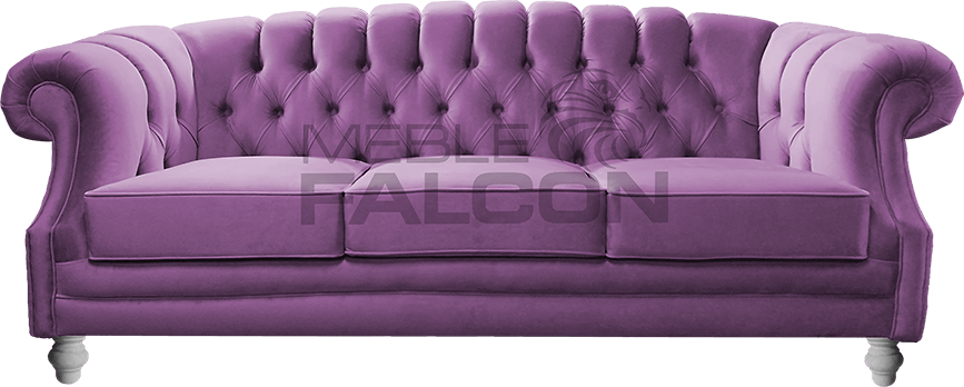 3-osobowa sofa chesterfield fioletowa producent