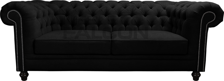 pikowana sofa chesterfield next czarna producent