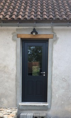 Anthracite Pine Wood Door