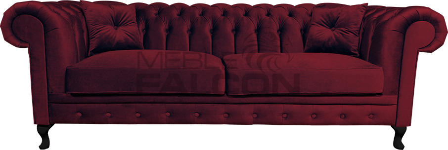 sofa chesterfield venezia czerwona bordo producent