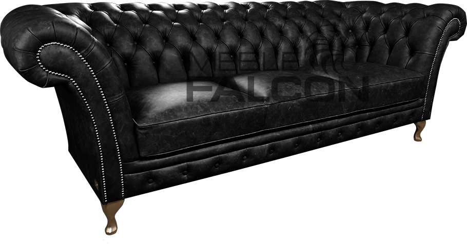 czarna sofa chesterfield odchylone boki producent
