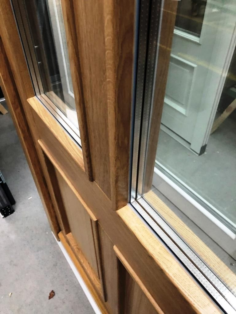 Solid oak triple glazed door