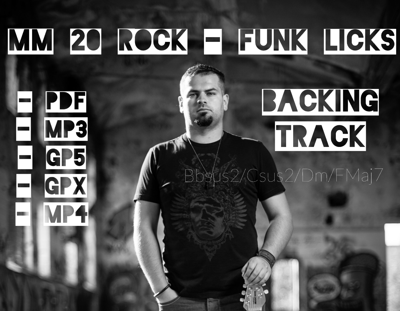MM 20 Rock-Funk Licks, Full Backing Track, D minor, 120bpm