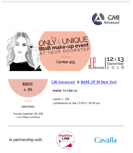 CMI Advanced @ MAKE UP IN New York 2018
