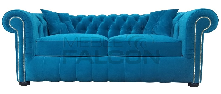 sofa chesterfield turkus funkcja spania producent