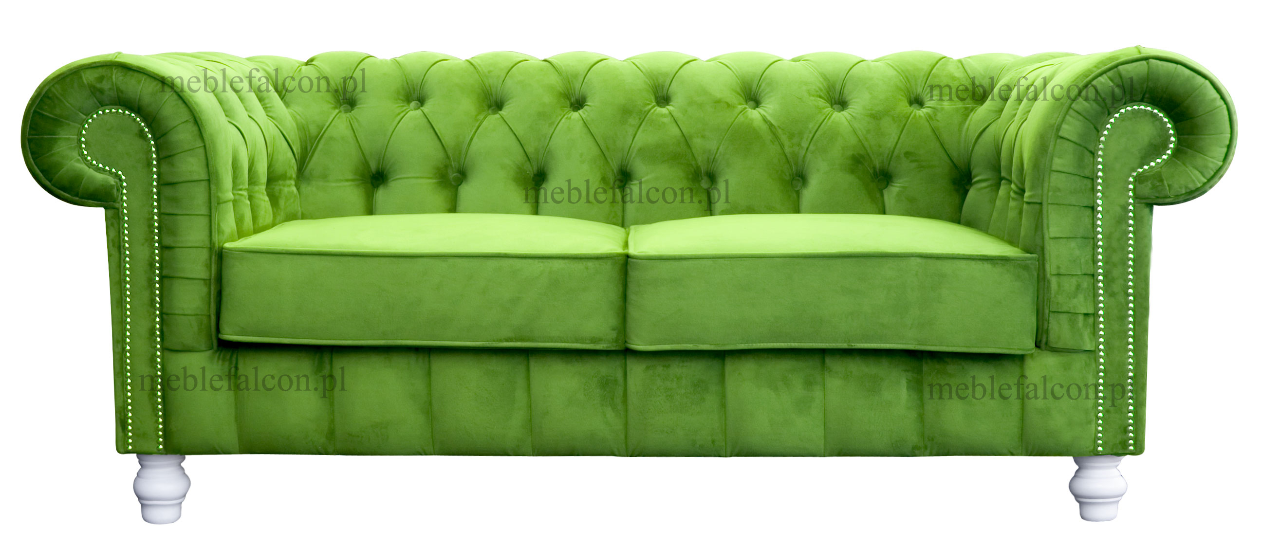 sofa chesterfield pikowana pluszowa