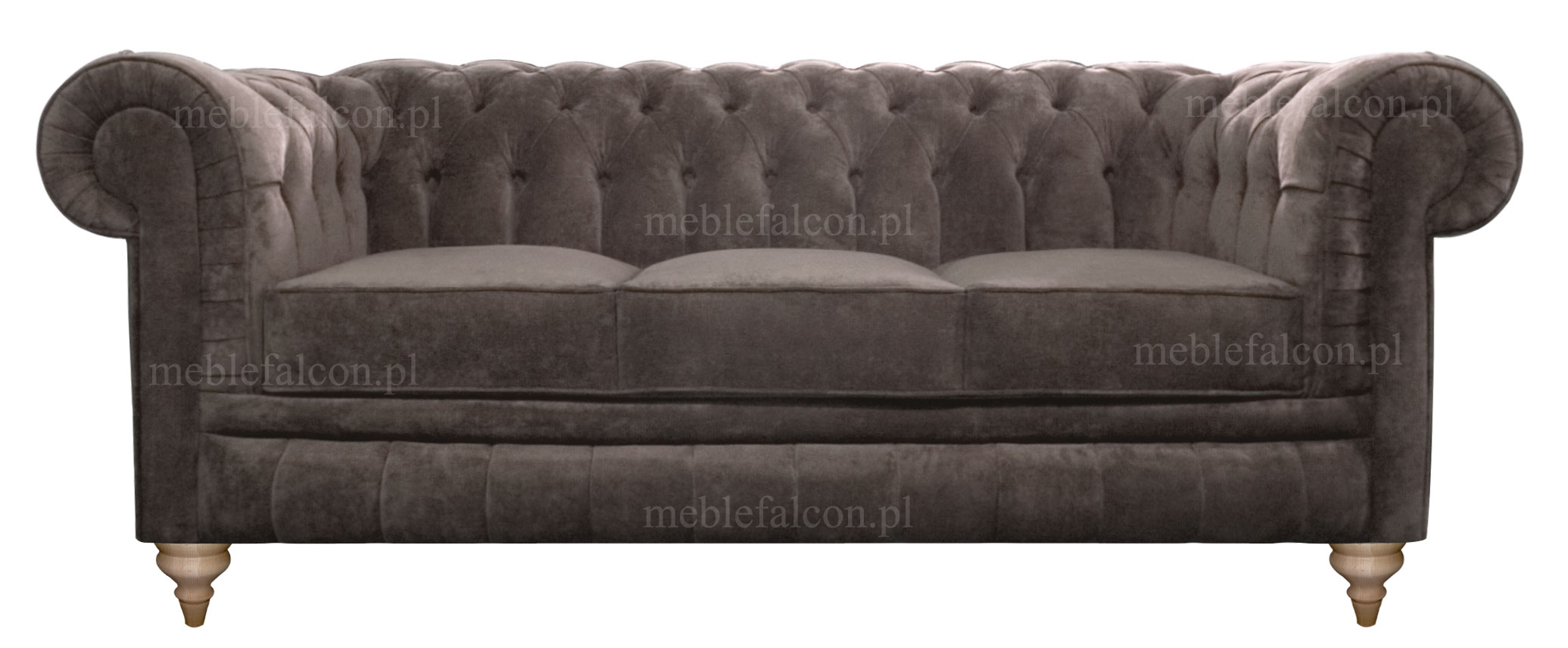 sofa chesterfield pluszowa