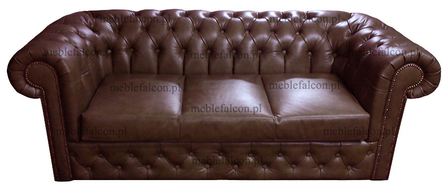 sofa chesterfield richmond skóra brąz producent
