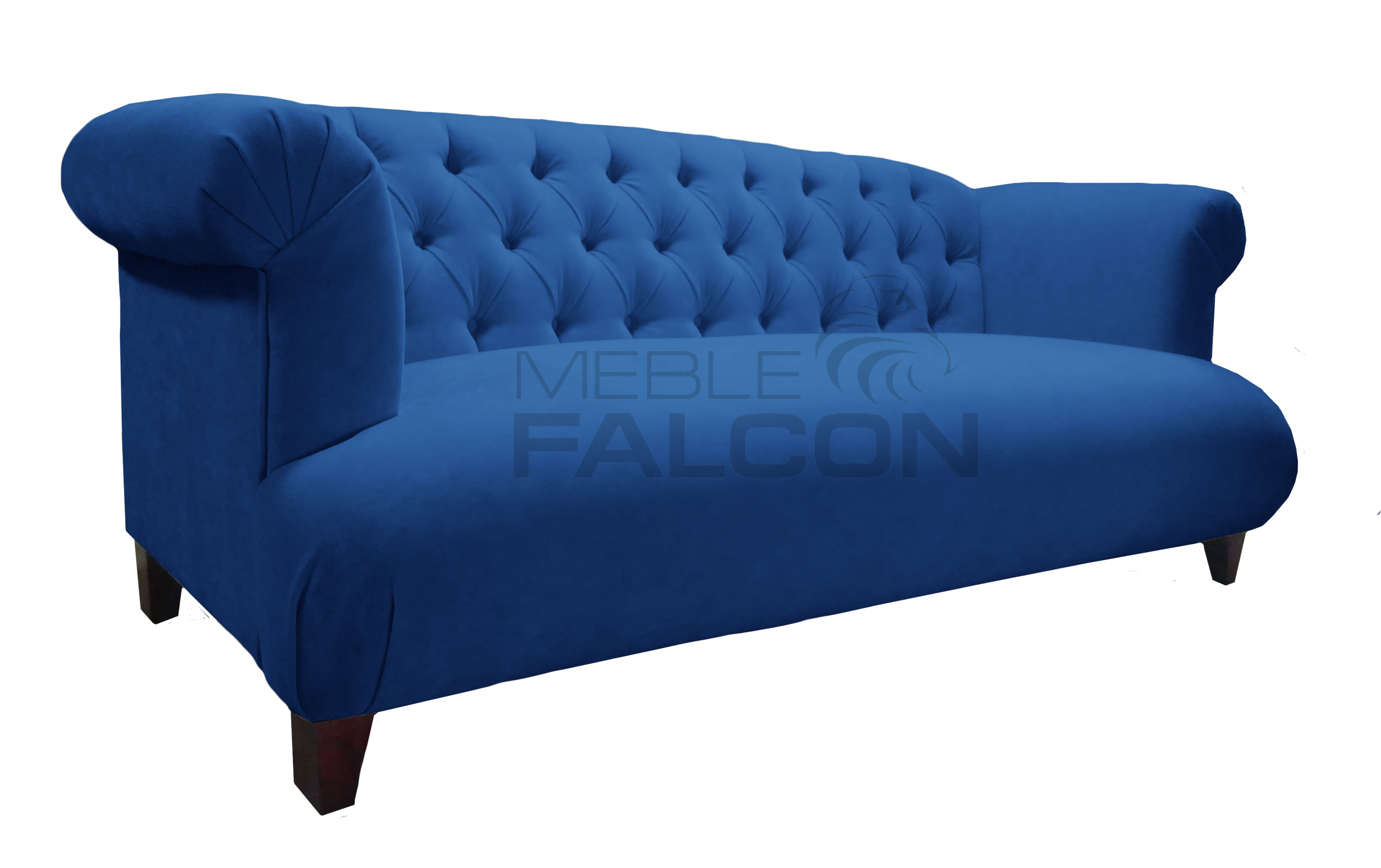 wygodna sofa chesterfield do salonu niebieska