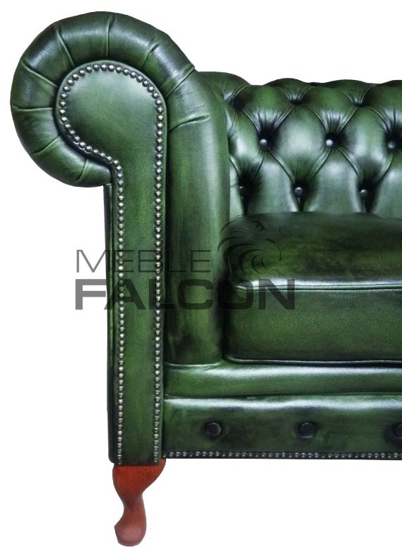sofa chesterfield pikowana queen anne producent