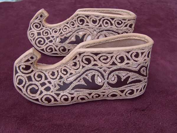 Magyar medieval leather shoes.