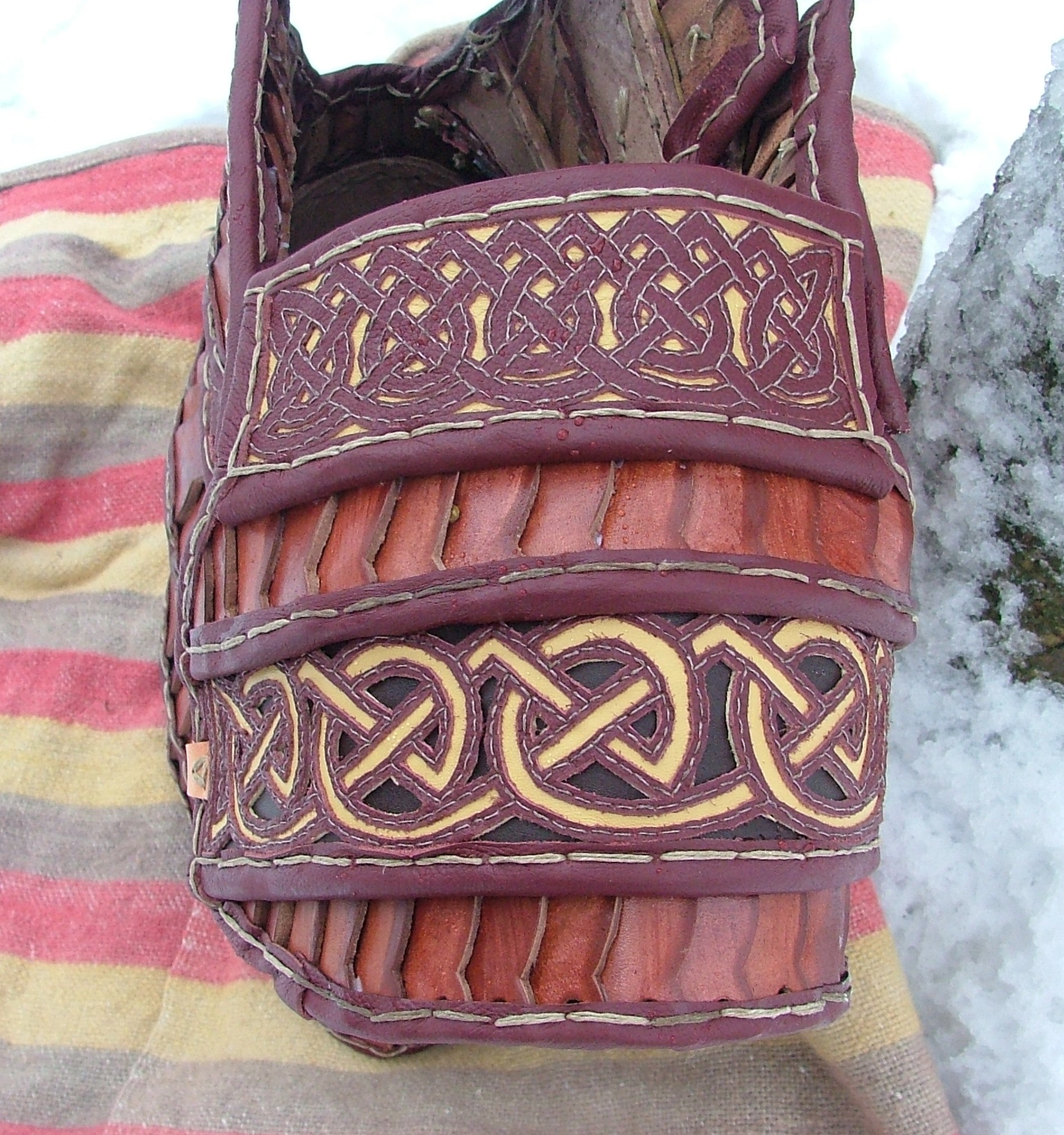 Celtic lamellar armour shouder