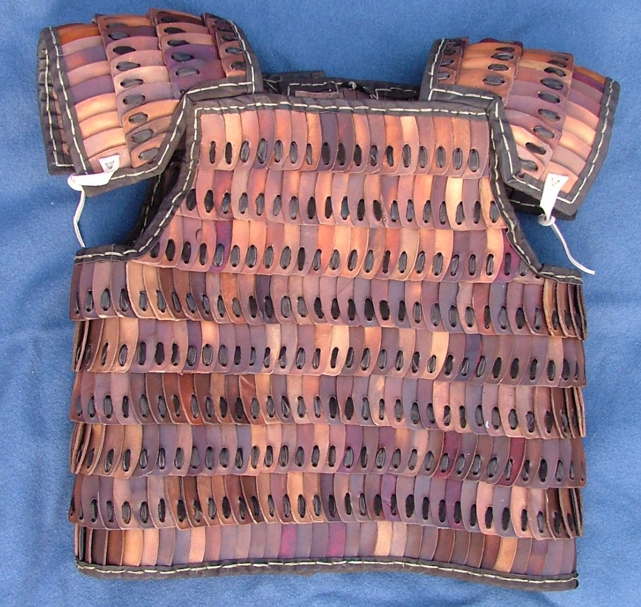 Medieval cuirass made of D-shaped plates.