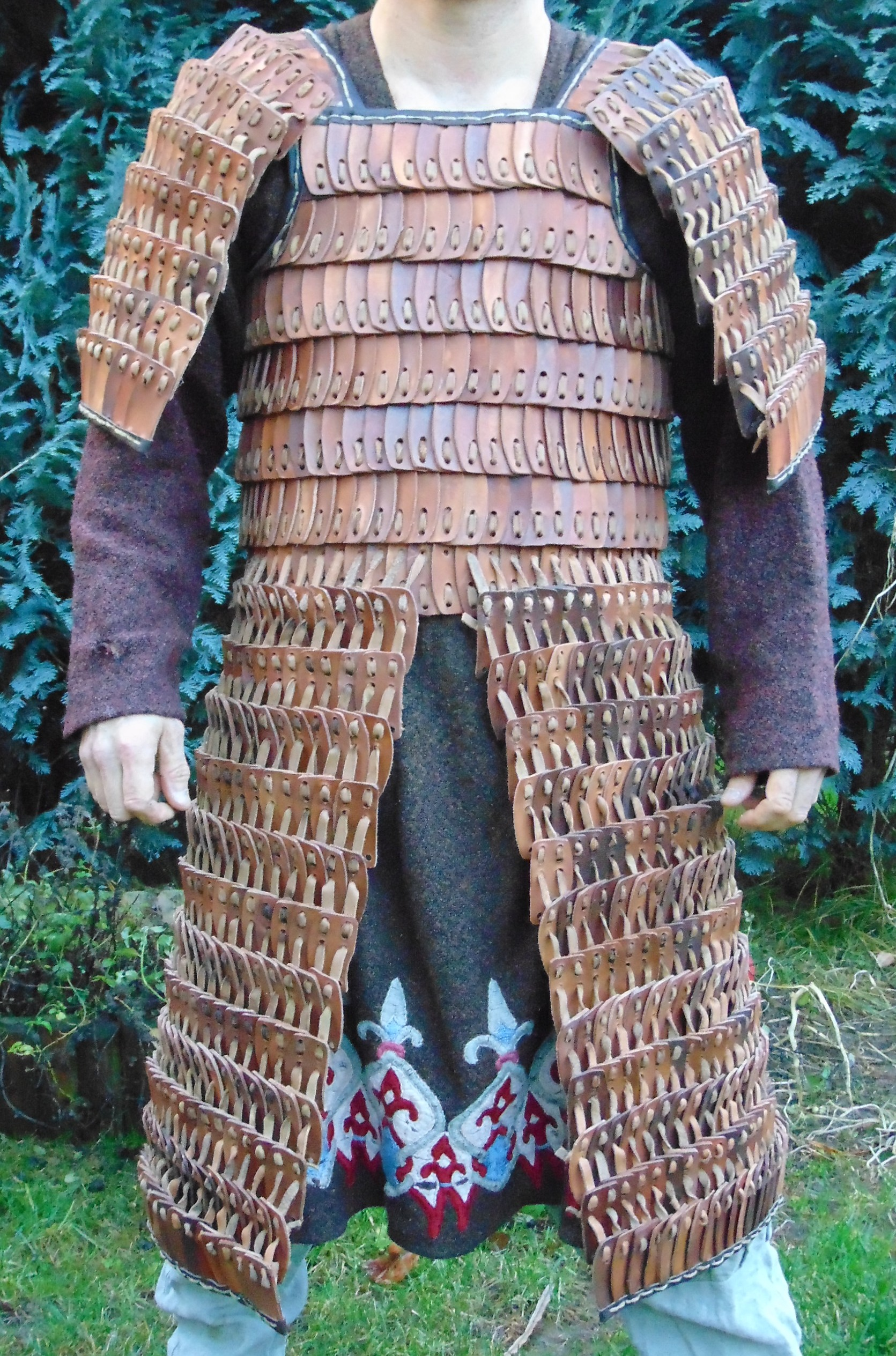 Mongol leather armour.