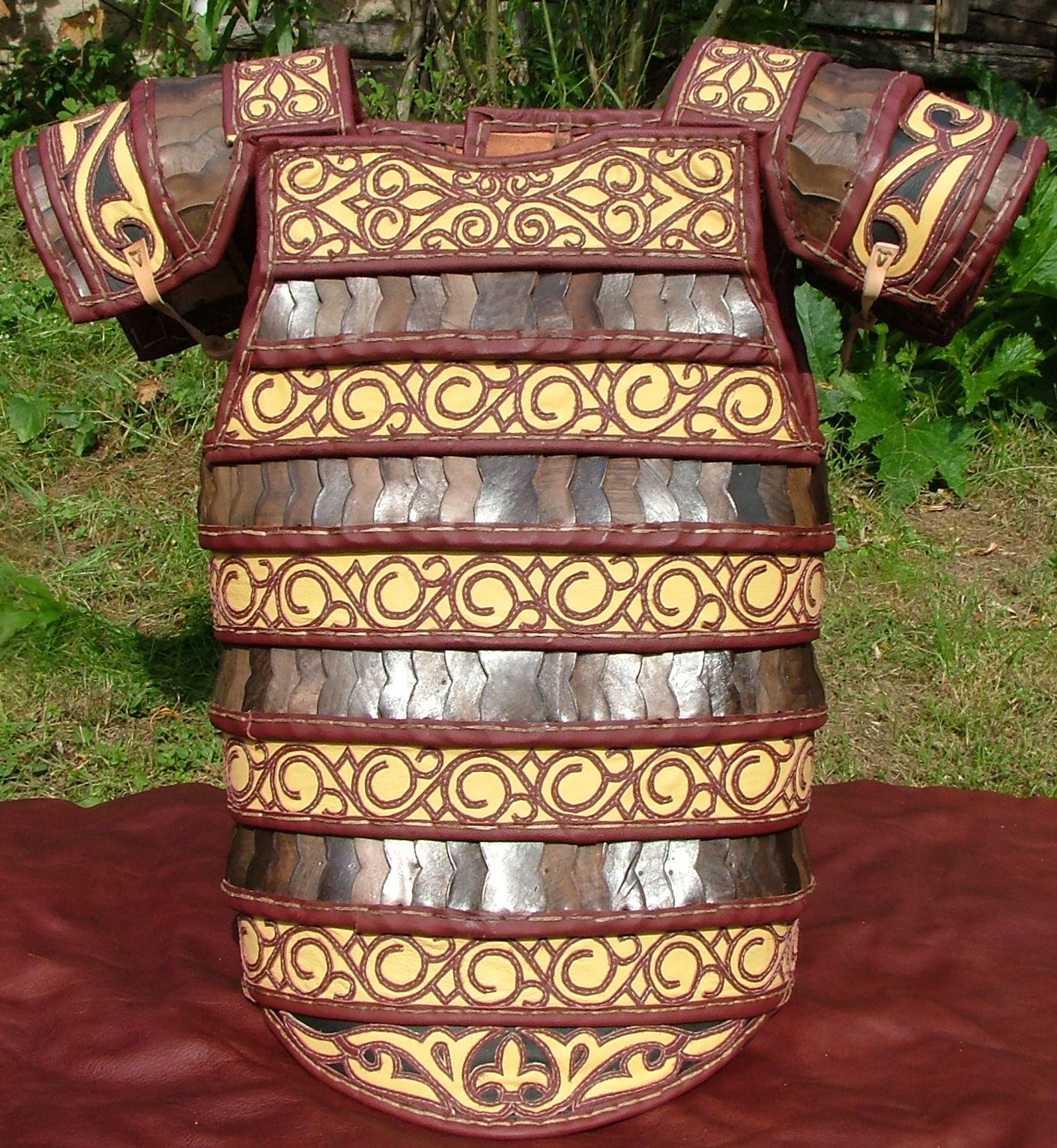 Richly decorated medieval cuirass.
