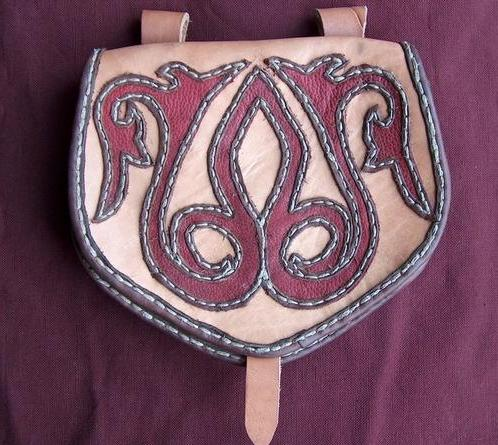 Medieval pouch with a simple motif.
