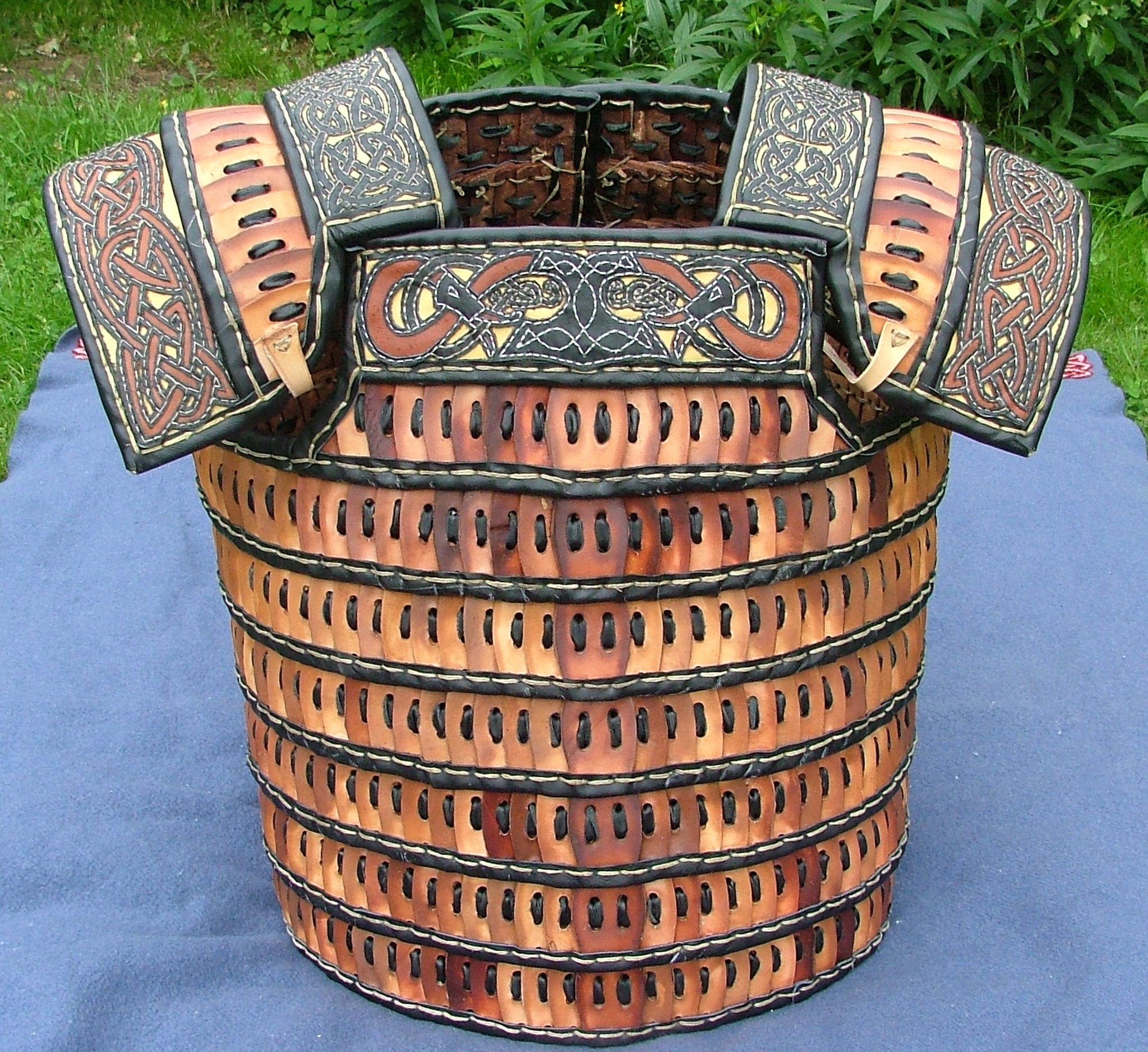 Leather lamellar Viking-style.