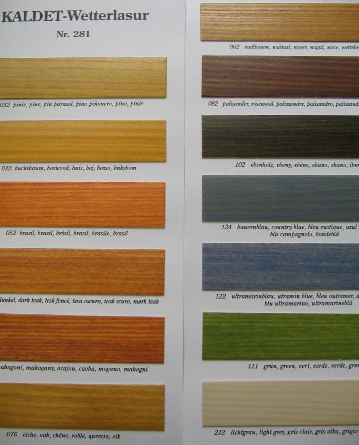 kolory olej na zewntrz Kaldet 281 Livos