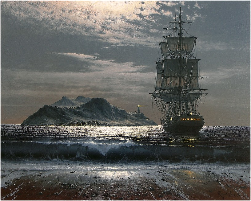 Magic touch for seascape and marine paintings by Marek Rużyk