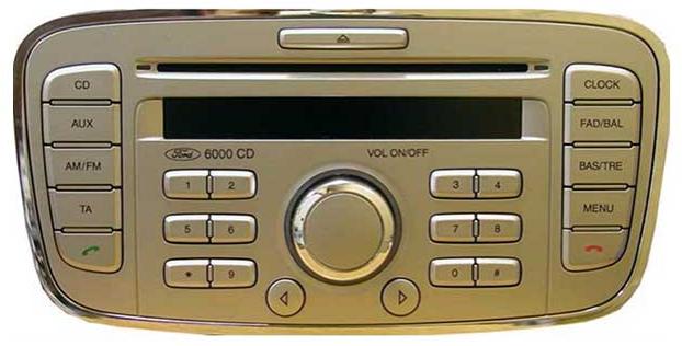 code ford radio 6000cd