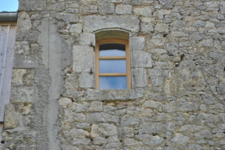 Arch wooden window