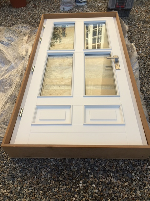 Solid Mahogany Doors painted white