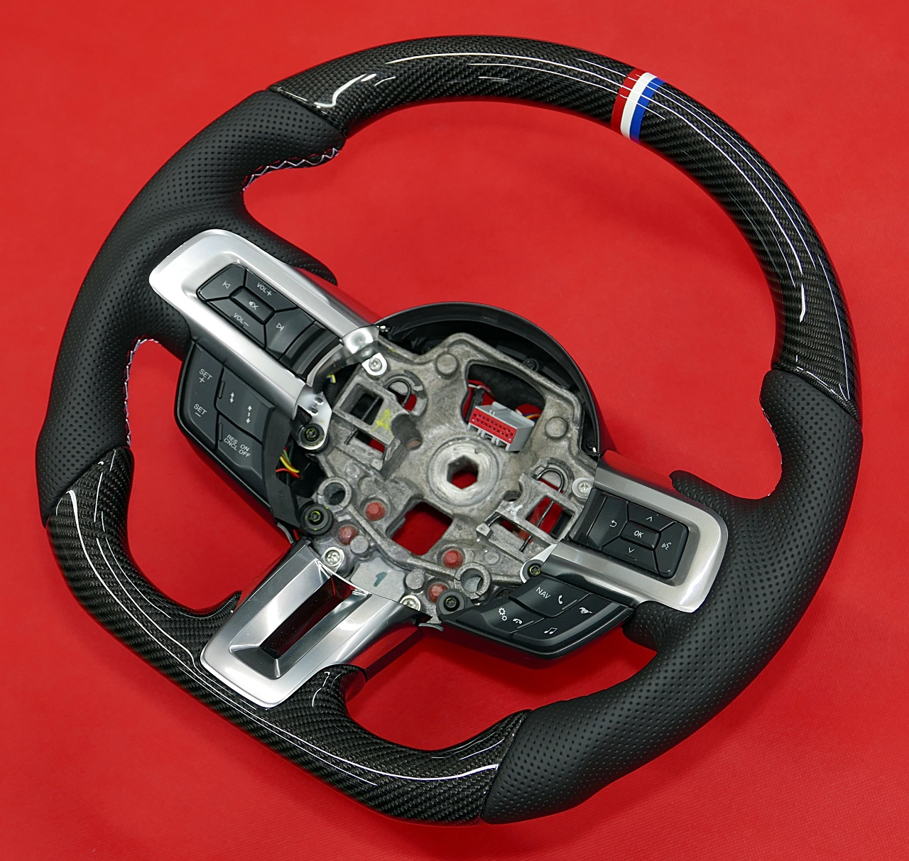 carbon fiber steering wheel mustang shelby gt