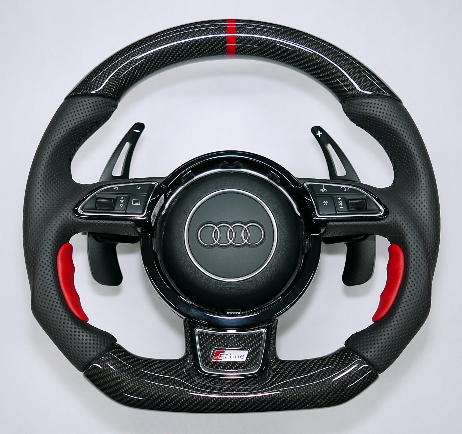 carbon fiber customs modification steering wheel audi