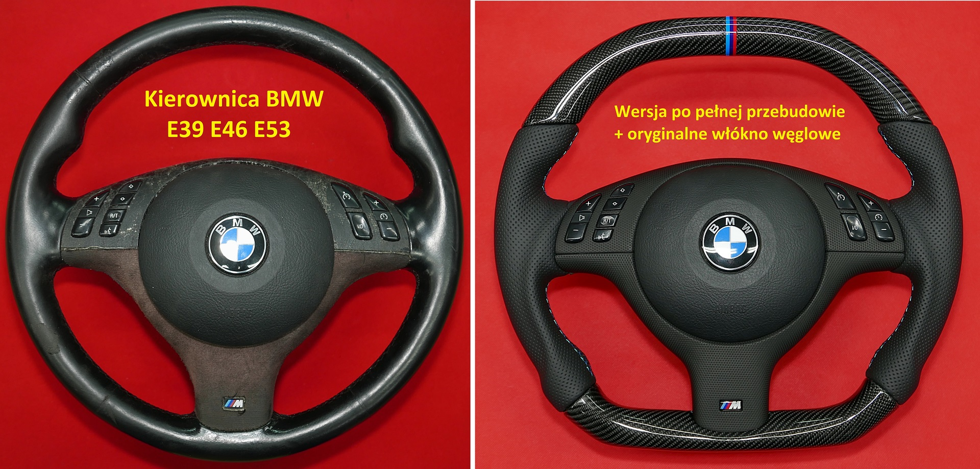 Carbon fiber steering wheel BMW E39 E46 E53 customs sport tunning