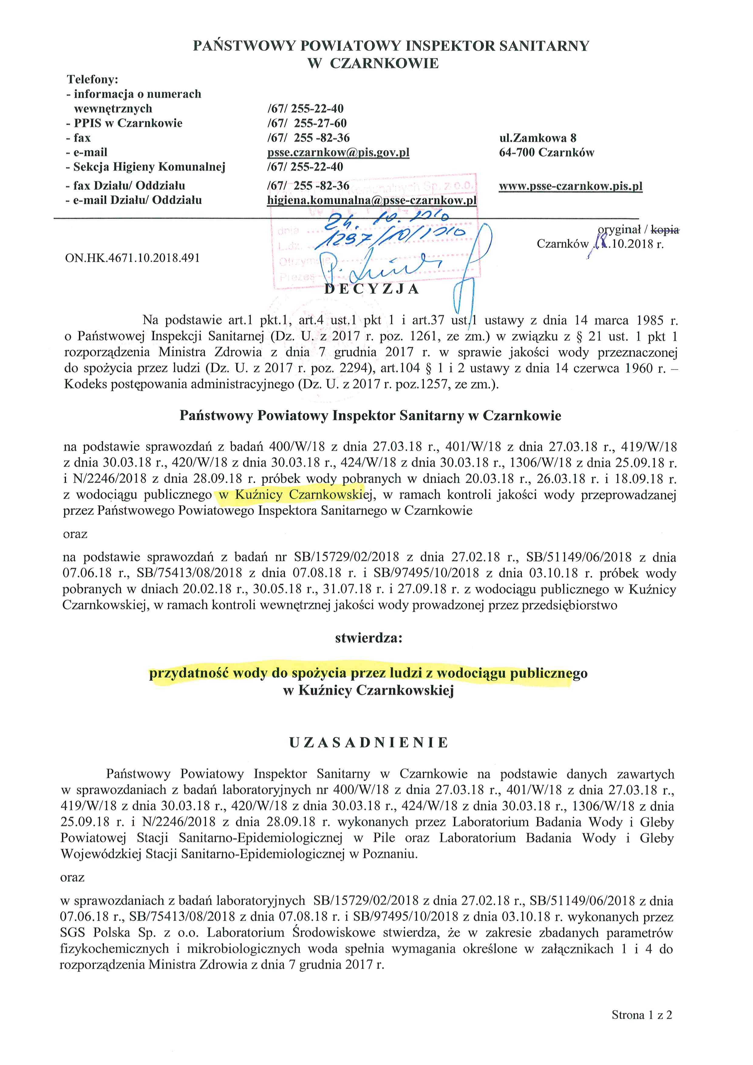 Decyzja Kunica Czarnkowskajpg