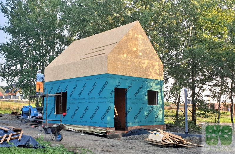 Słopnice - frame wood house construction building shell 35,00m2