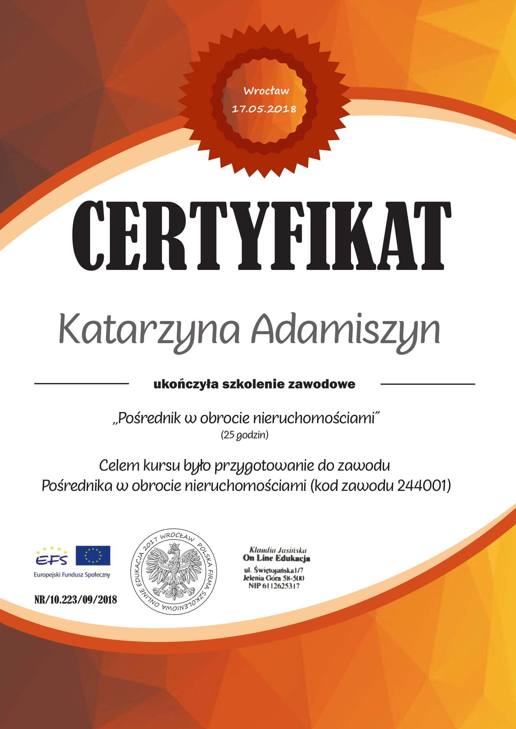 Certyfikat Porednik-1jpg