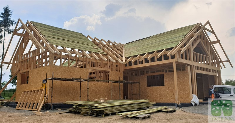 Łużna - frame wood house construction building shell 276,00m2
