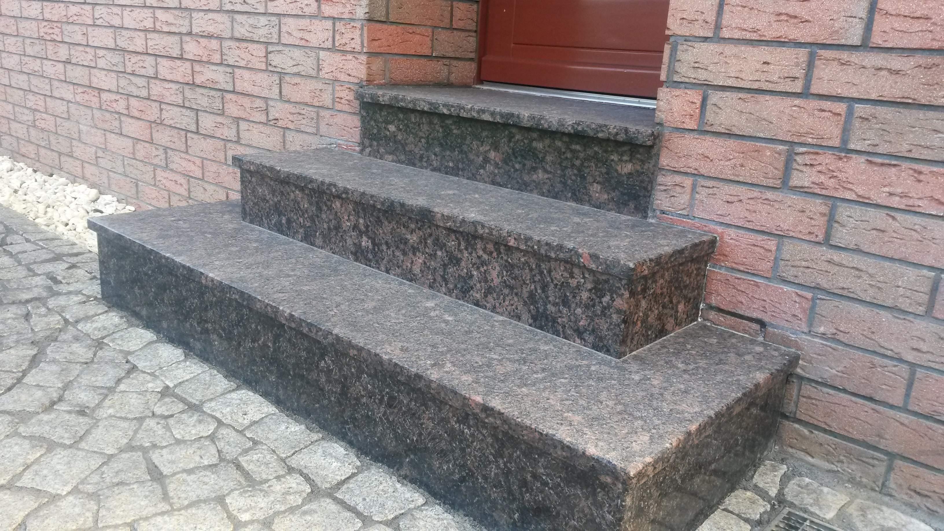 Wspaniały schody zewnętrzne granitowe PS86