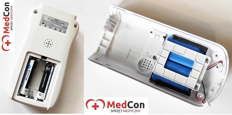 Pulsoksymetr zasilanie bateryjne akumulatorowejpg