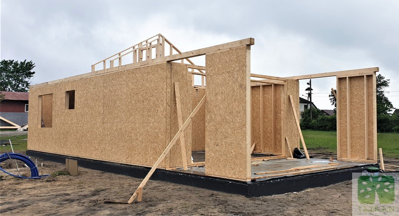 Koniecpol - frame wood house construction building shell 76,70m2